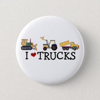 I Love Trucks T-shirts and Gifts Pinback Button