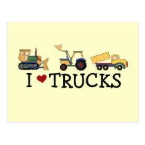 I Love Trucks T-shirts and Gifts Postcard