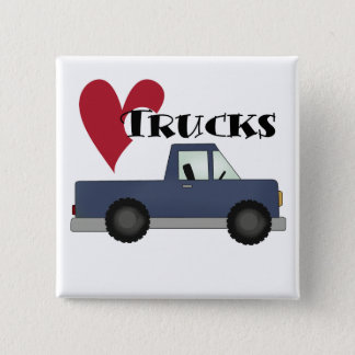 I Love Trucks Tshirts and Gifts Pinback Button
