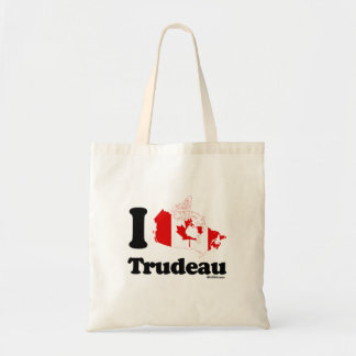 I Love Trudeau - Canadian Flag -.png Tote Bag