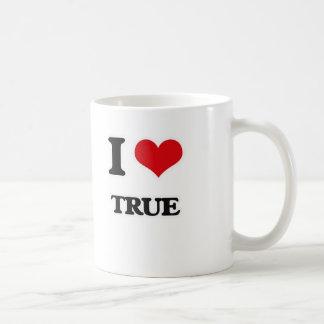I Love True Coffee Mug