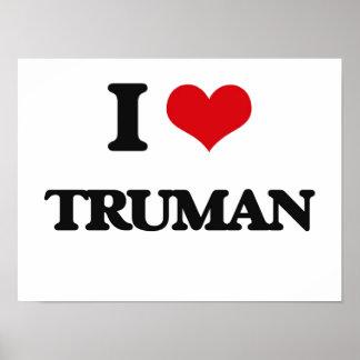 I Love Truman Poster