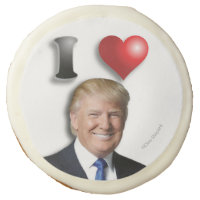 I LOVE TRUMP Delicious Yummy Awesome Campaign 2020 Sugar Cookie