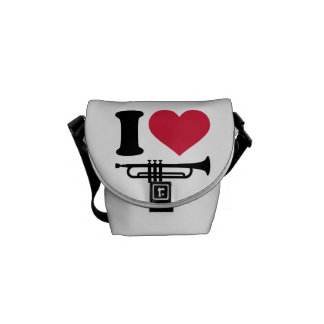 I love trumpet messenger bags
