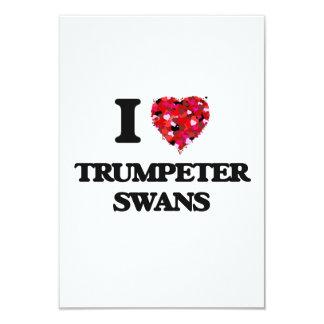 I love Trumpeter Swans 3.5x5 Paper Invitation Card
