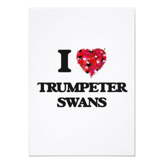 I love Trumpeter Swans 5x7 Paper Invitation Card