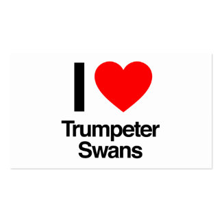 i love trumpeter swans Double-Sided standard business cards (Pack of 100)
