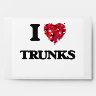 I love Trunks Envelopes