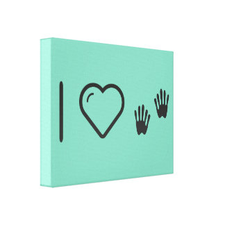 I Love Trusted Hands Canvas Print