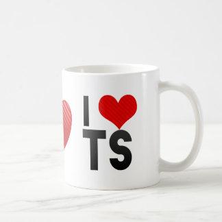 I Love TS Classic White Coffee Mug