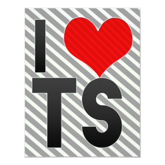 I Love TS 4.25x5.5 Paper Invitation Card