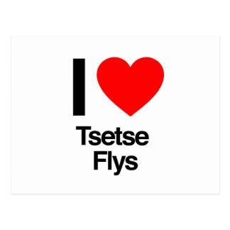 i love tsetse flys postcard