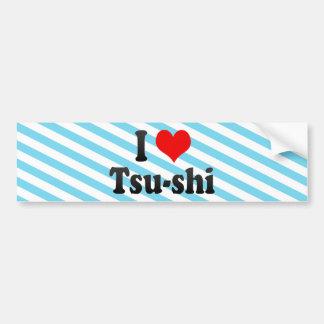 I Love Tsu-shi Japan Aisuru Tsu-Shi Japan Bumper Sticker