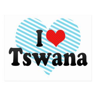 I Love Tswana Postcard