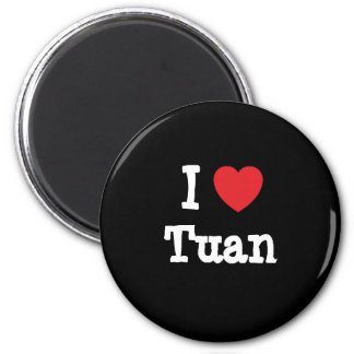 I love Tuan heart custom personalized 2 Inch Round Magnet