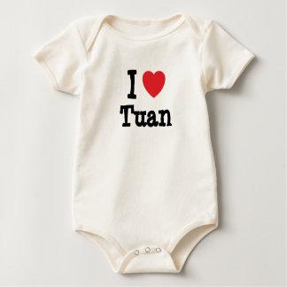 I love Tuan heart custom personalized Bodysuits