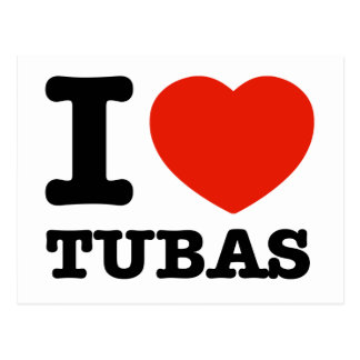 I love tubas postcard