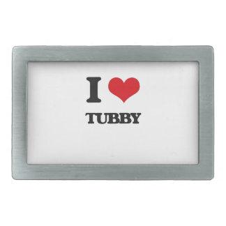 I love Tubby Belt Buckle