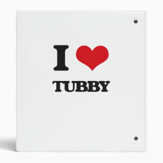 I love Tubby 3 Ring Binders