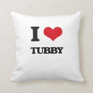 I love Tubby Throw Pillow