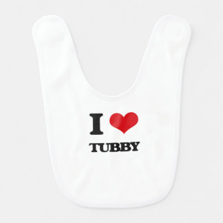 I love Tubby Baby Bib
