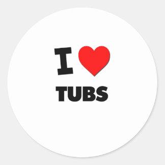 I love Tubs Classic Round Sticker
