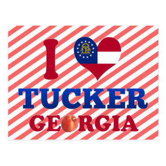 I Love Tucker, Georgia Postcard