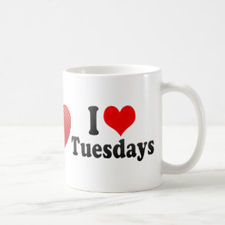 I Love Tuesdays Classic White Coffee Mug