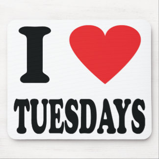 I love tuesdays icon mouse pad