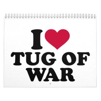 I love Tug of war Calendar