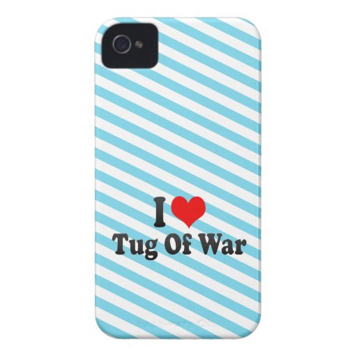 I love Tug Of War iPhone 4 Cases
