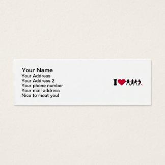 I love Tug of war Mini Business Card