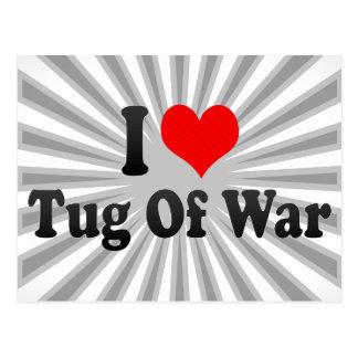 I love Tug Of War Postcard