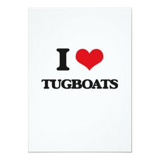 I love Tugboats 5x7 Paper Invitation Card