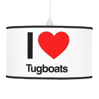 i love tugboats hanging pendant lamp