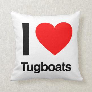 i love tugboats throw pillows