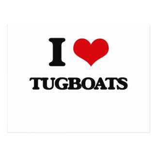 I love Tugboats Postcard