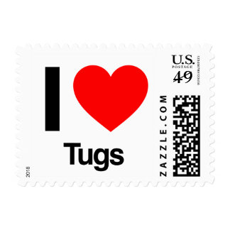 i love tugs postage stamp
