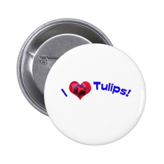I love tulips blue button