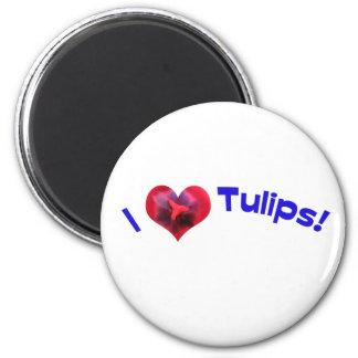 I love tulips blue magnets