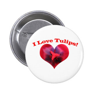 I love Tulips Button