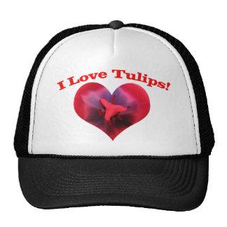 I love Tulips Trucker Hats