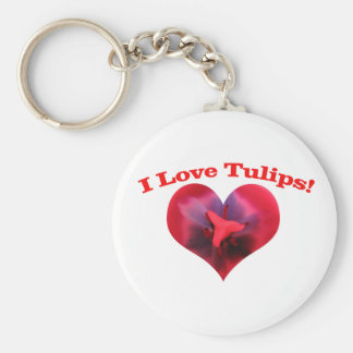 I love Tulips Keychain
