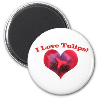 I love Tulips Refrigerator Magnets