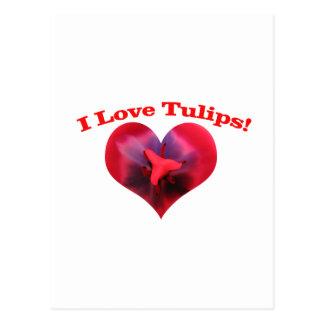 I love Tulips Postcard