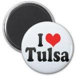 I Love Tulsa Fridge Magnets