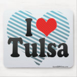 I Love Tulsa Mousepads