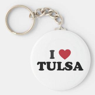 I Love Tulsa Oklahoma Keychain
