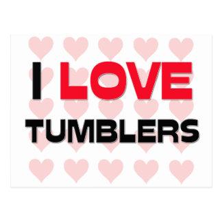 I LOVE TUMBLERS POSTCARD