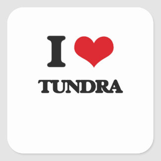 I love Tundra Square Sticker